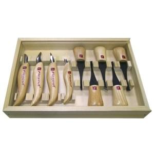 Flexcut KN700 Deluxe Palm & Knife Set