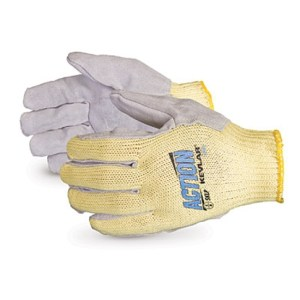 GLOVE - KEVLAR WITH A LEATHER FACE Large White cuff