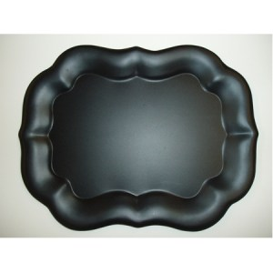 """Toleware Tray,Gothic or Chippendale 9"""" x 12"""""""