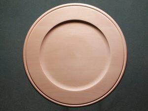 "Plate Basswood, Outside Beaded Rim, 20"""
