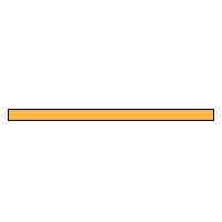 Ceramic Texturing Sticks 400 grit, Orange