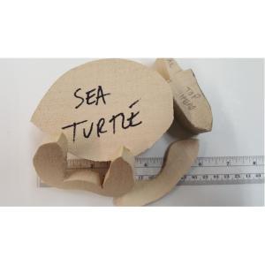 Turtle - Josh Guge cutout tupelo