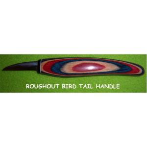 """Helvie Knife, Roughout BIRD 1/2"""" x 1 3/4"""""""
