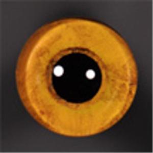 ON WIRE EYES - OWL Screech bld stip 14mm lg pupil straw yellow