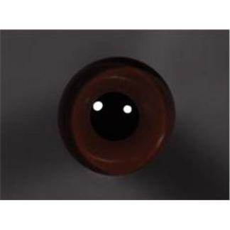 Tohickon Glass Eyes Off-Wire #112 - 12mm Dk. Brown M/P