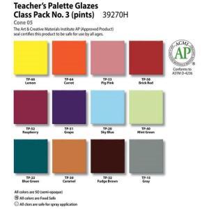 Teacher's Palette Class Pack #3, Pint liquid, AP - 12 colors