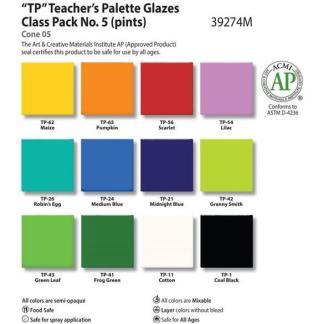 Teacher's Palette Class Pack #5, Pint liquid, AP - 12 colors