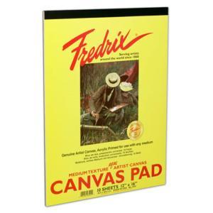 "Fredrix Acrylic Primed Canvas Pads 9"" x 12"" 10 Sheets"