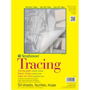 Strathmore 300 TRACING PARCHMENT  PAD 25LB 50 SHEETS 9X12