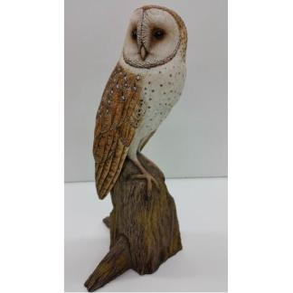 Owl, Barn (1/2 life size) with Base, Jerry Simchuk study cast