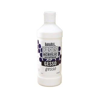 GESSO WHITE LIQUITEX Basics 16 OZ.