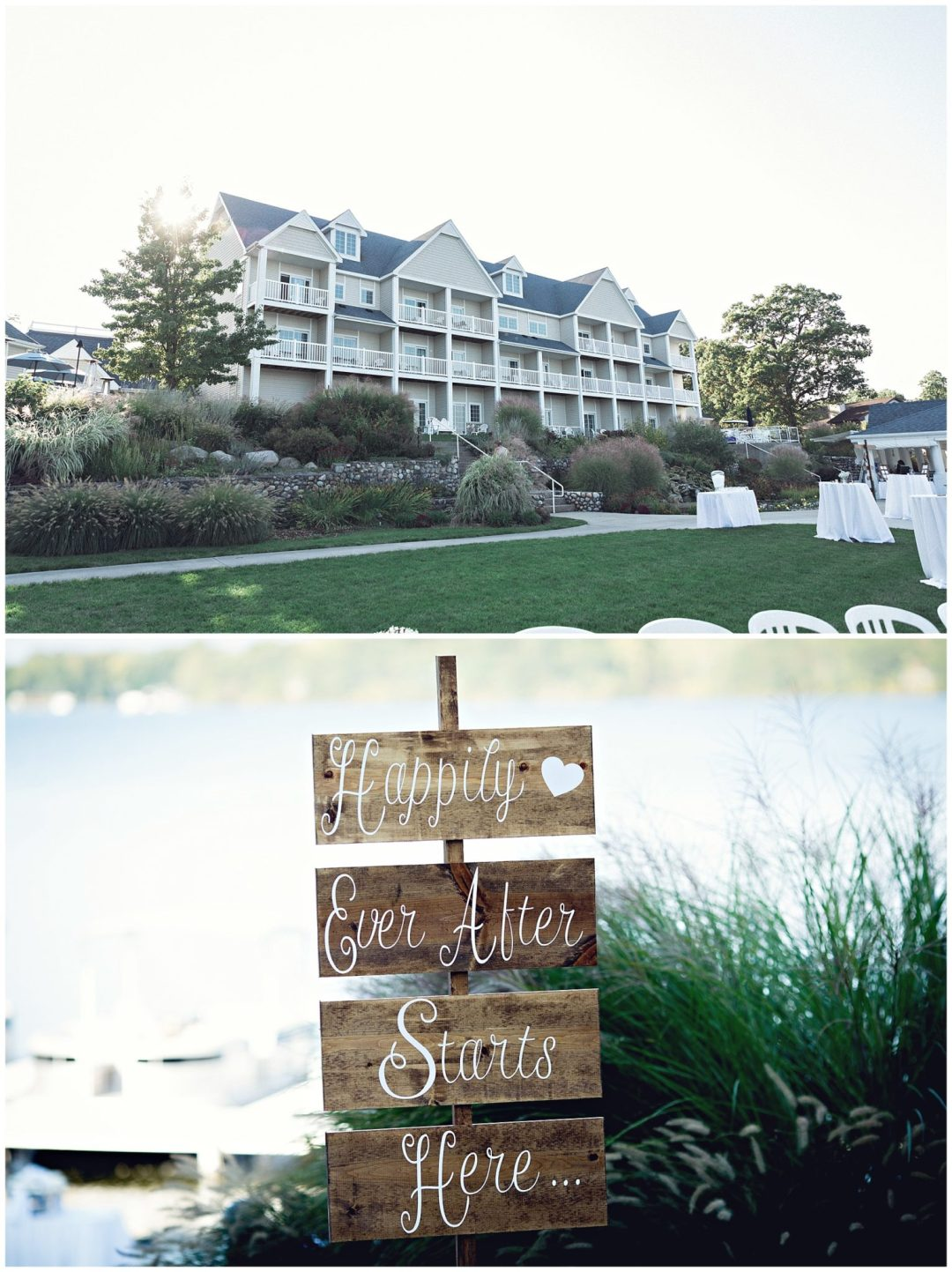 Bay Pointe Inn Resort on Gun Lake photographed by Gregersen Photography