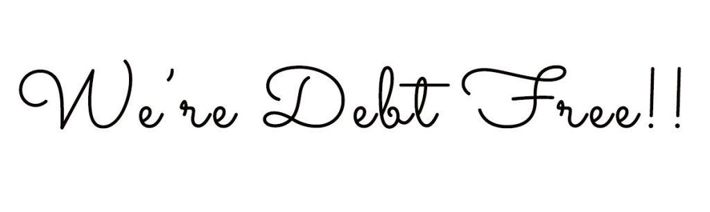 We're Debt Free!