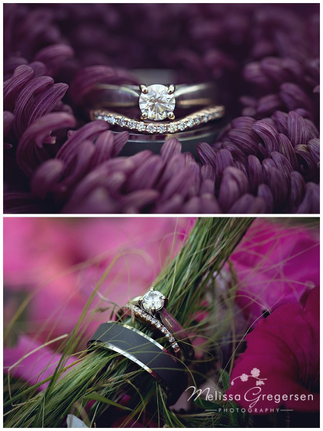Wedding rings and flowers are a great match to photograph
