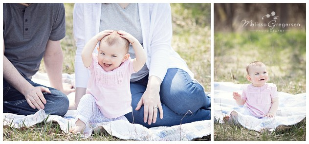 One year baby girl photography session