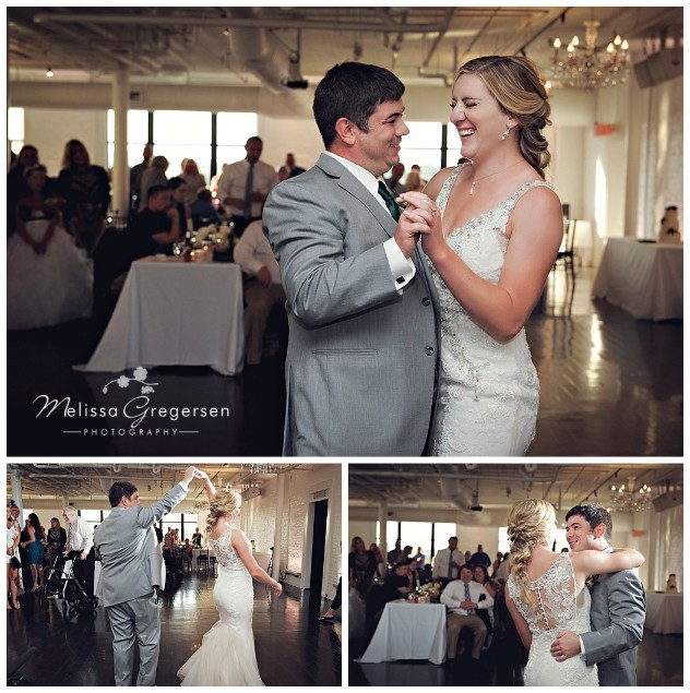 The groom has a nacho for making the bride smile from ear to ear. Their first dance was enjoyable to watch.