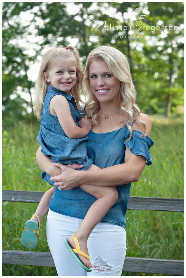 Matching Mother and daughter blondes and denim