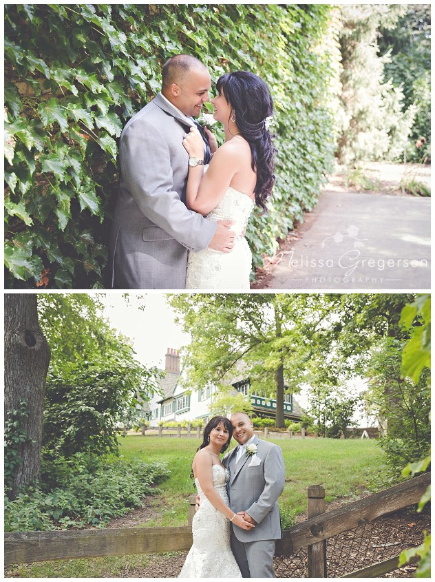 So many beautifully green and well lit areas for bridal portraits.