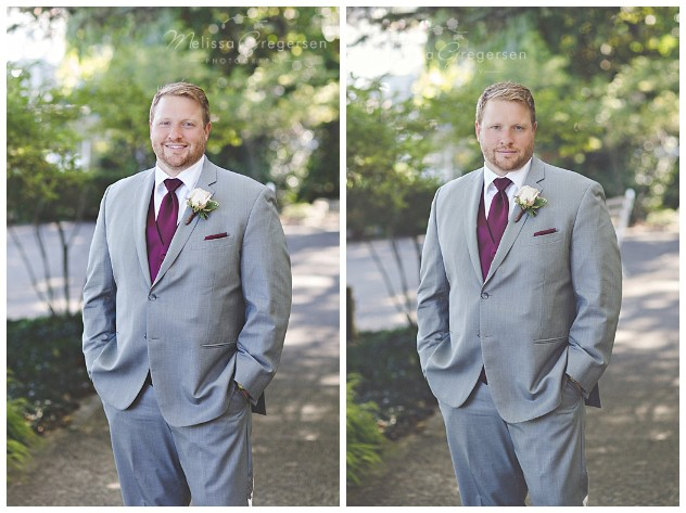 The handsome groom ready to see his bride!