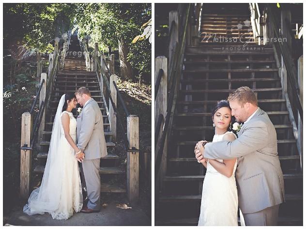 Steps are a wonderful backdrop.