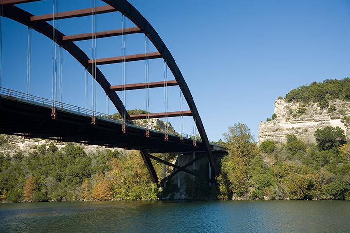 Under the Loop 360 Bridge