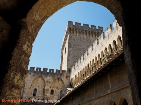 Inside the Pope's Palace in Avignon, France