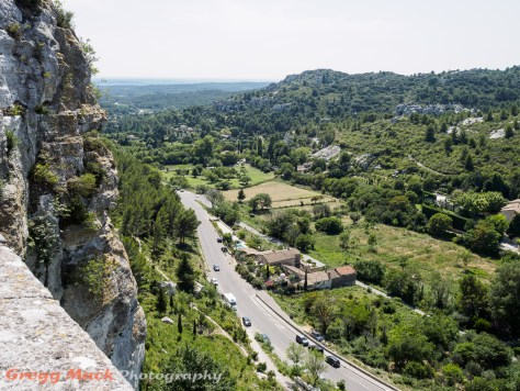 View from Les Baux-de-Provence Medieval City