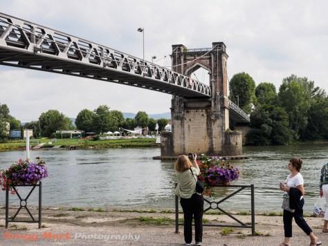 Bridge over the The Saone River.