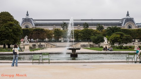 The Musée d'Orsay behind the Grand Bassin Pond in the Tuileries Garden