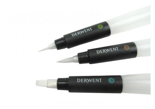 DERWENT WATER BRUSH SET OF 3