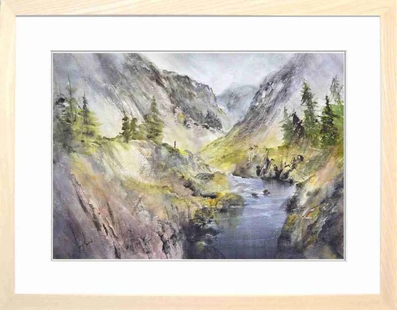 Framed Painting A Quiet Glen II