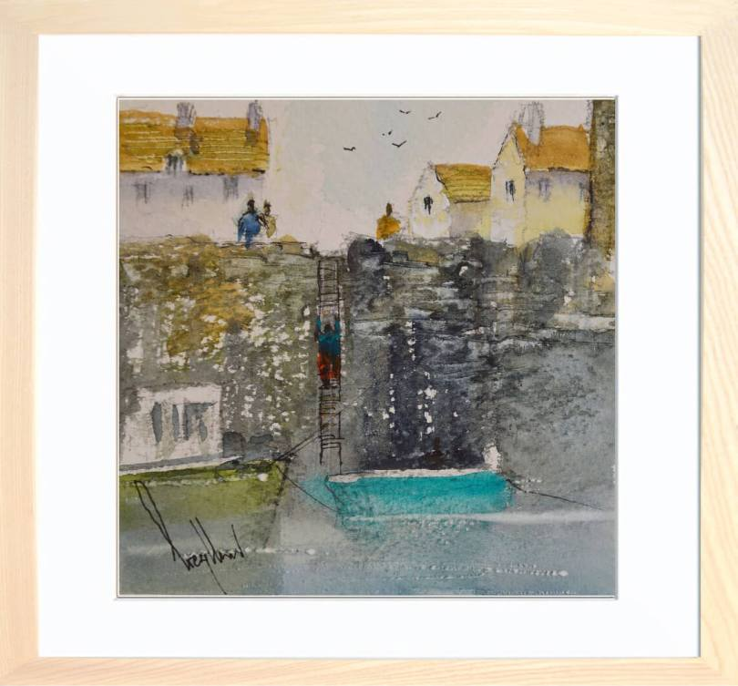Framed Painting At Harbour