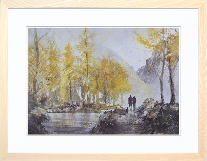 Framed Painting Autumn At The Tarn I