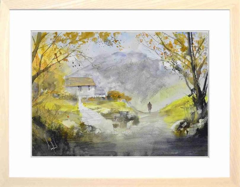 Framed Painting Autumn In Lakeland III