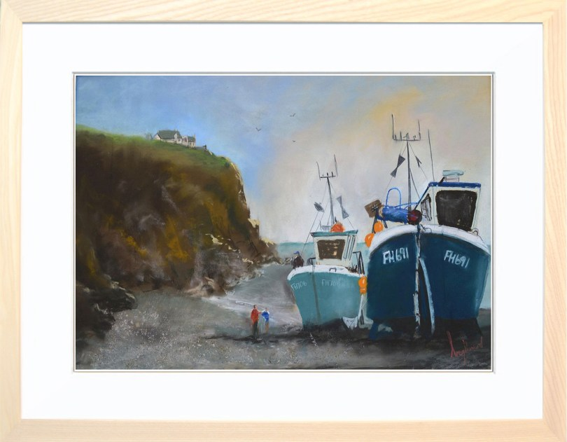 Framed Painting Cadgewith Harbour Cornwall