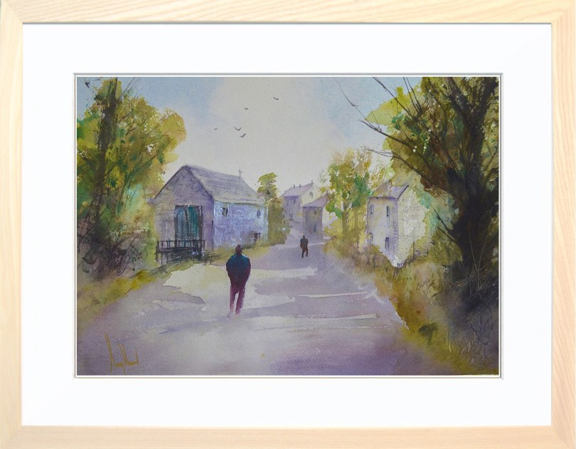 Framed Painting Country Lane I