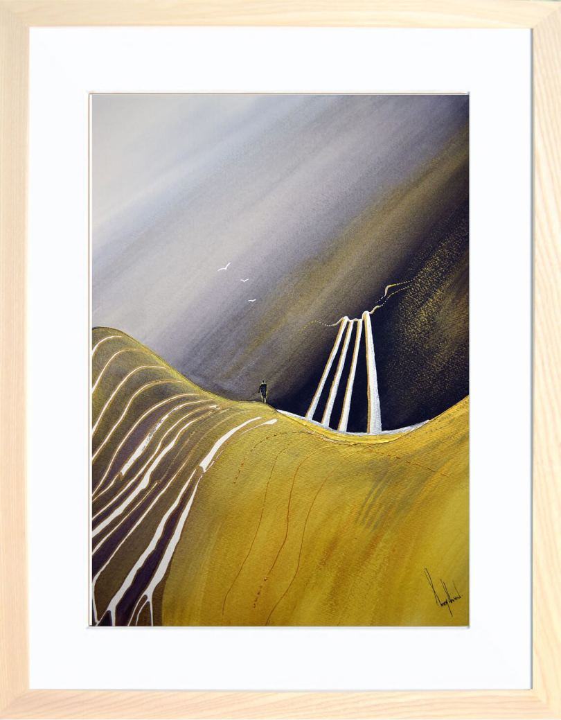 Framed Painting Dreams I Mountain