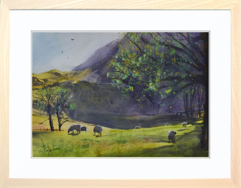 Framed Painting Early Morning In The Meadow
