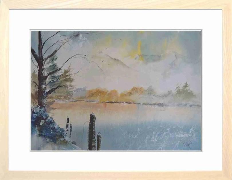 Framed Painting Frozen Tarn II