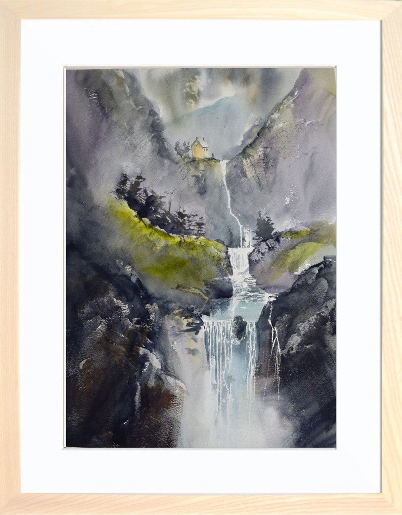 Framed Painting Ghyll VIII
