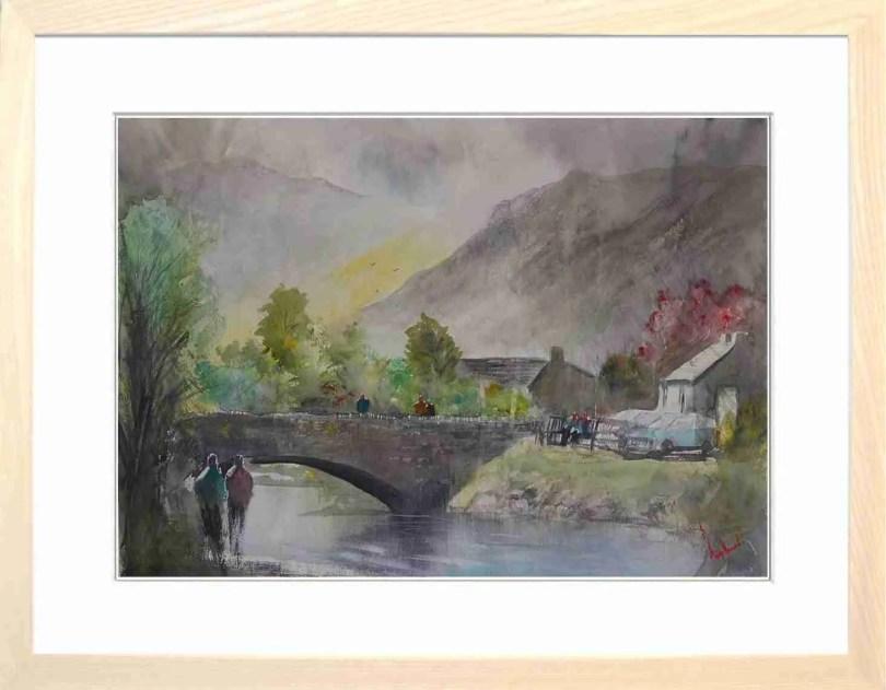 Framed Painting Grange In Borrowdale I