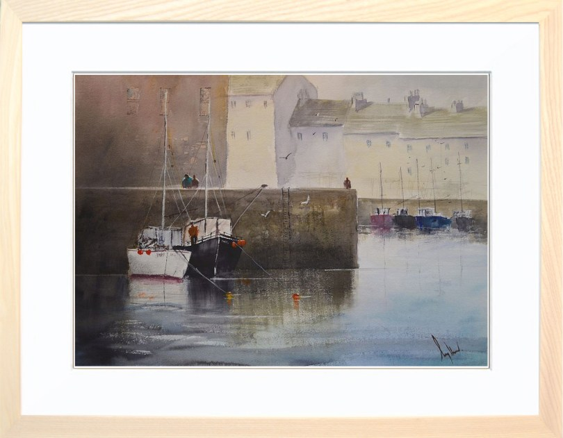 Framed Painting Harbours IV