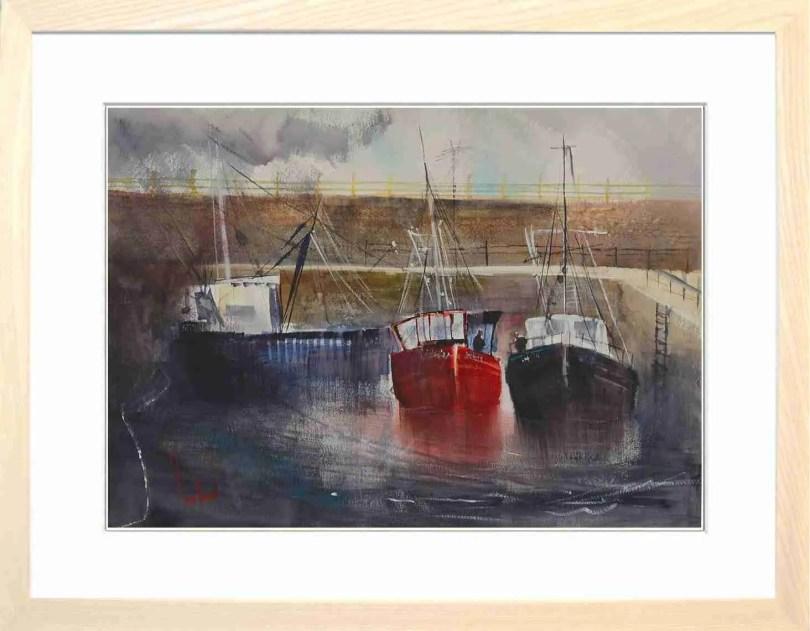 Framed Painting Harbours VI