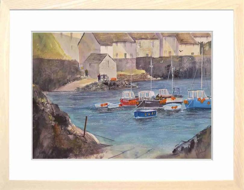 Framed Painting Harbours VII