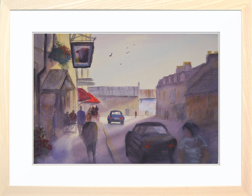 Framed Painting Late Afternoon Castleton
