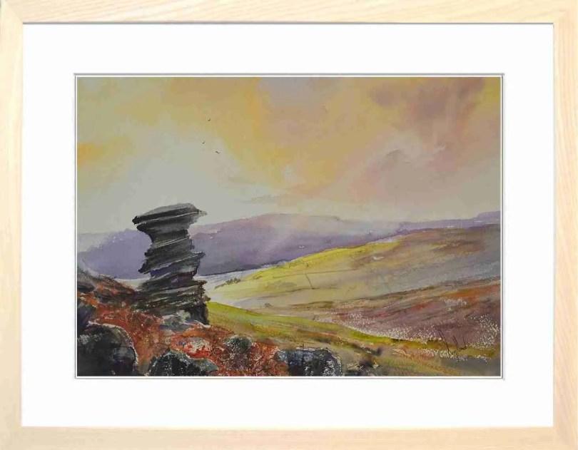 Framed Painting Morning At Derwent Edge Salt Cellar