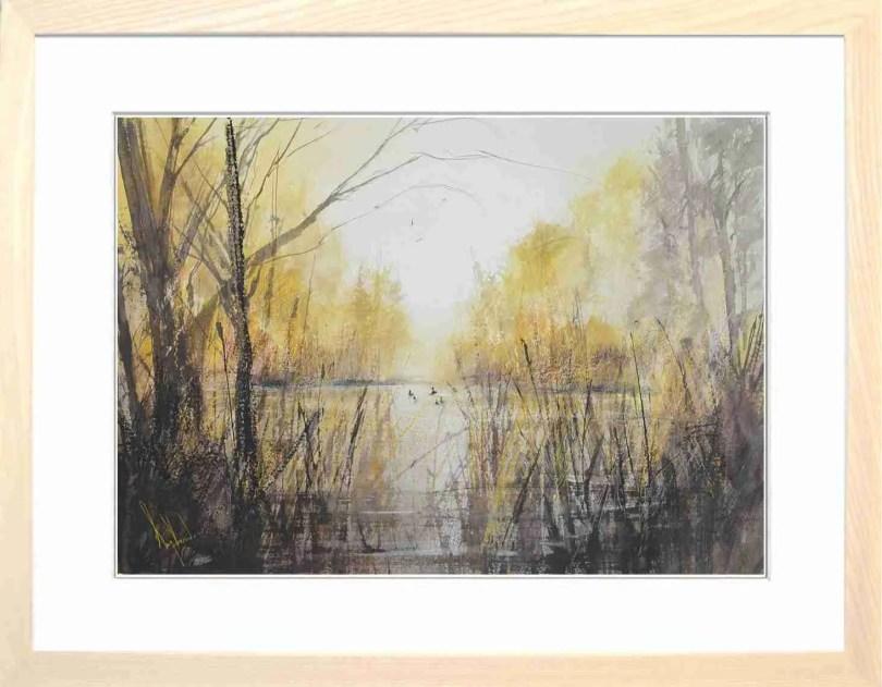 Framed Painting Reeds II