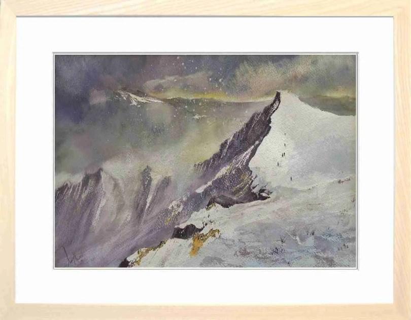 Framed Painting Sharp Edge Blencathra Cumbria