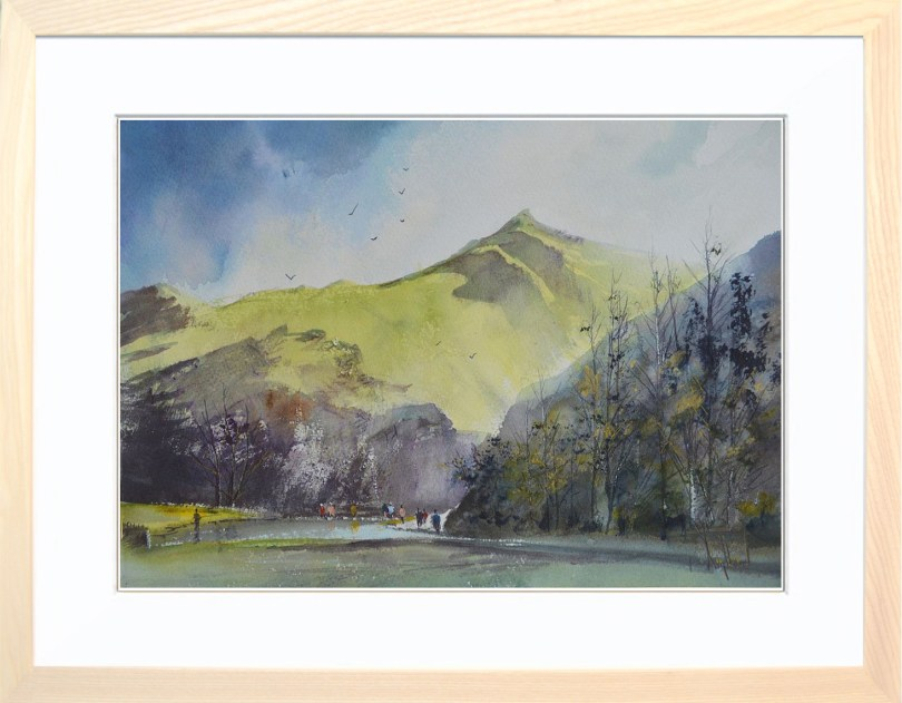 Framed Painting Stepping Stones Dovedale