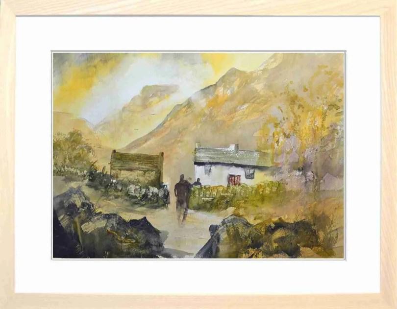 Framed Painting Sundown At Hilltop VII